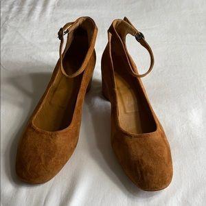 Coclico suede block heels size 39 - US 9